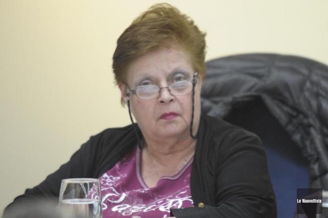 La conseillère Françoise Hogue Plante a été arrêtée,... (Sylvain Mayer, Le Nouvelliste)