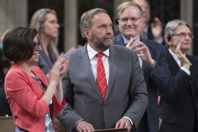 Le chef du Nouveau Parti démocratique (NPD), Thomas... (La Presse Canadienne)