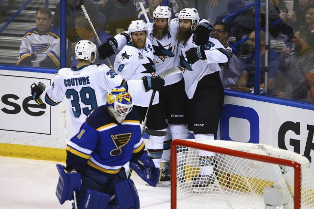 Les Sharks mènent la LNH avec 15buts en... (AFP)