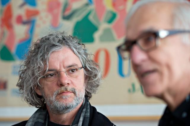 Le réalisateur François Girard et le producteur Roger... (PHOTO OLIVIER JEAN, ARCHIVES LA PRESSE)