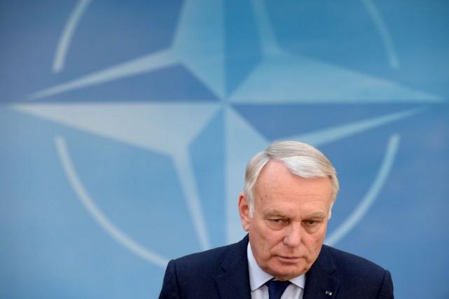 Le ministre français des Affaires étrangères, Jean-Marc Ayrault.... (PHOTO JOHN THYS, AFP)