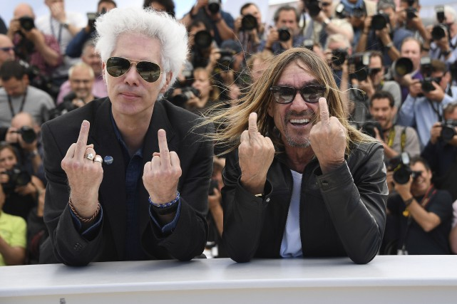 Jim Jarmush et Iggy Pop... (AFP, Anne-Christine Poujoulat)