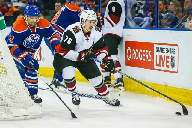Le Québécois Laurent Dauphin a joué sa première... (Photo Sergei Belski, USA TODAY Sports)