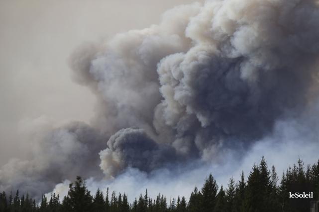 Le brasier, surnommé «la bête» par les pompiers... (Photothèque Le Soleil, AFP, Cole Burston)