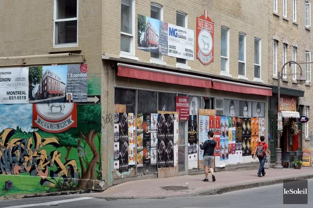 L'ancienne boucherie W.E. Bégin est à l'abandon depuis... (Photothèque Le Soleil, Erick Labbé)