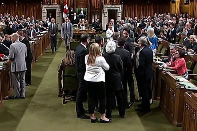 Tout bien considéré, l'accrochage provoqué par Justin Trudeau... (Archives La Presse Canadienne)