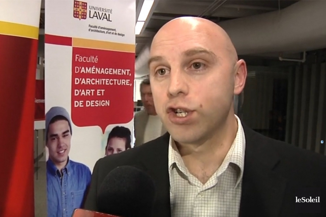 Jean Dubé, professeur titulaire de la chaire, comparera... (Photo tirée d'une vidéo de Nicolas Perron-Drolet, Le Soleil)