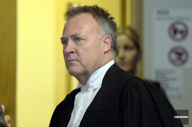 Me Jean-Marc Fradette, en défense, prétend que les... (Photo Le Quotidien, Jeannot Lévesque)