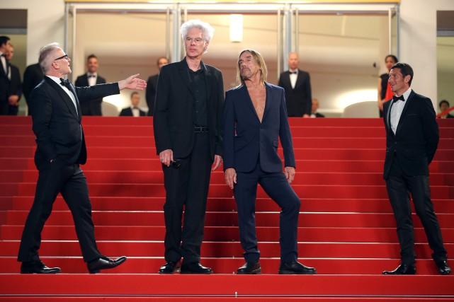 Le cinéaste Jim Jarmusch et le chanteur Iggy... (Photo Thibault Camus, AP)