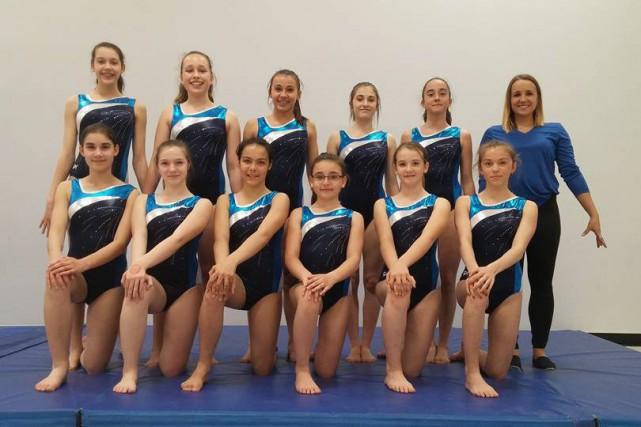 Voici les représentantes du club Gymnasco d'Alma qui... (Photo courtoisie)