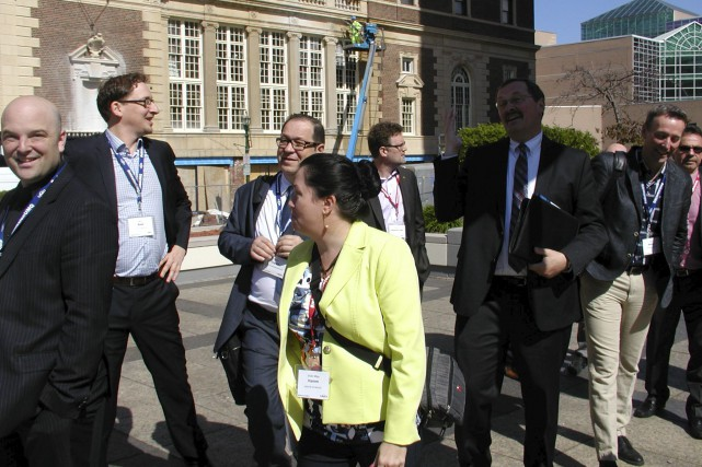 Une partie de la délégation de l'UMQ à... (Guy Veillette)