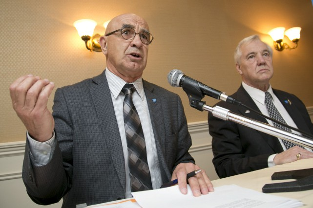Donald Tremblay, président national de l'AQRP, et Jean-Guy... (Spectre Média, René Marquis)