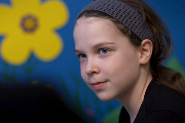 La jeune Rose, 9ans, a perdu sa mère... (Fournie par ICI Radio-Canada Télé)