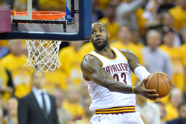 LeBron James a inscrit 23 points dans la... (Photo David Richard, USA Today)