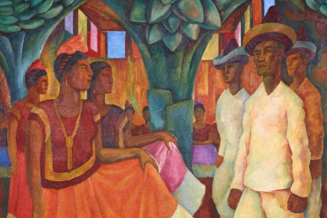 Créée en 1928,Danse de Tehuantepecmontre un groupe de... (PHOTO AP)