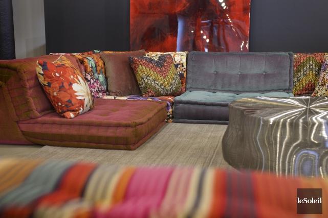 Le canapé modulaire Mah Jong, créé pour Roche... (Le Soleil, Yan Doublet)