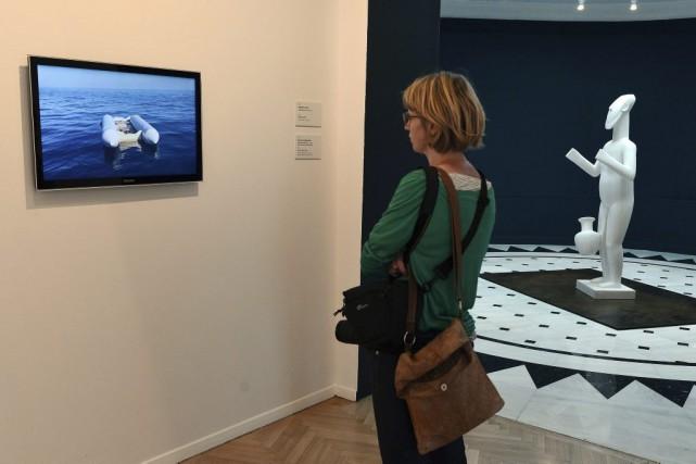 Cette exposition programmée par le musée d'art cycladique... (PHOTO LOUISA GOULIAMAKI, AFP)