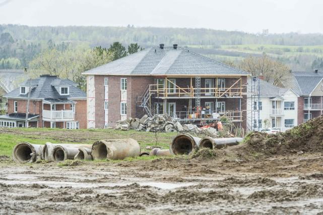 Le développement domicilaire Parcours des Rivières prend forme... (Spectre Media, Frédéric Côté)