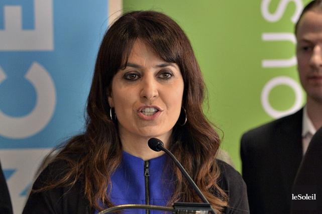 La candidate à la direction du Parti québécois... (Le Soleil, Patrice Laroche)