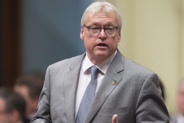 Le ministre de la Santé, Gaétan Barrette... (La Presse Canadienne, Jacques Boissinot)