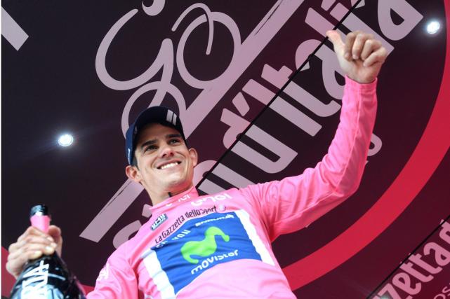 Le nouveau détenteur du maillot rose du Tour... (Photo Luca Zennaro, AP)