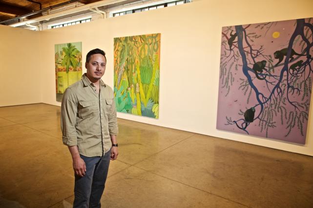 L'artiste de Victoria Rick Leong présente à la... (Photo André Pichette, La Presse)