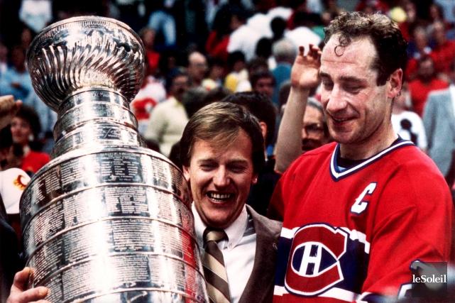 L'entraîneur-chef Jean Perron et le capitaine du Canadien,... (Photothèque Le Soleil)
