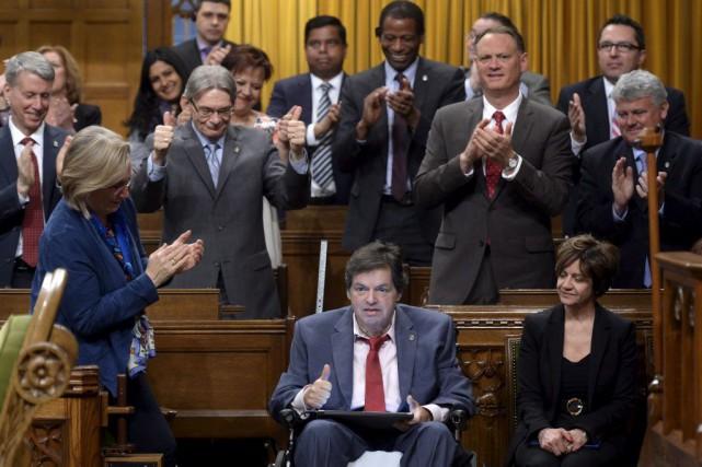 Le député d'Ottawa-Vanier, Mauril Bélanger, lors de son... (Adrian Wyld, Archives PC)