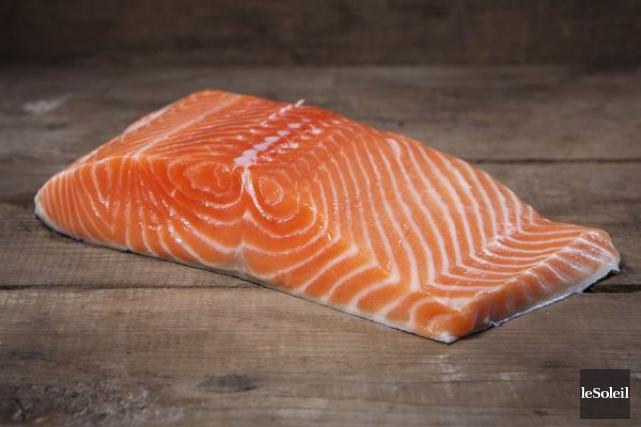 Le saumon transgénique qui sera commercialisé, appelé AquAdvantage,... (Photothèque Le Soleil)