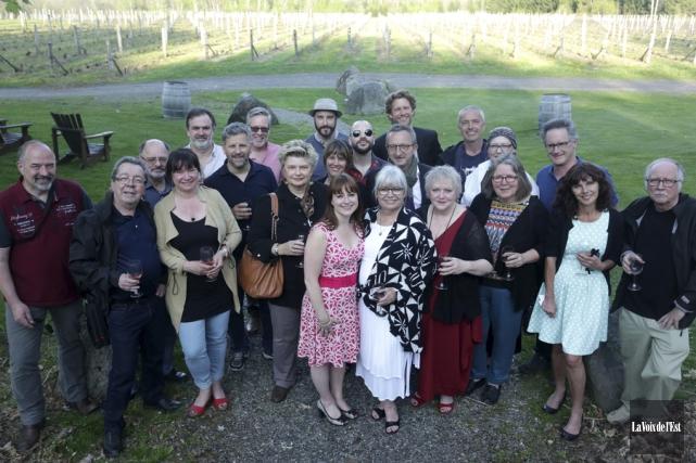 On peut apercevoir l'ensemble des auteurs, qui se... (Catherine Trudeau, archives La Voix de l'Est)
