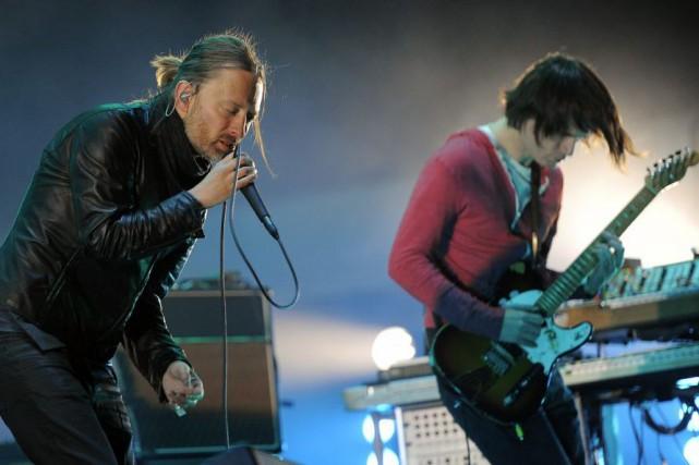 Le groupe de rock britannique Radiohead s'est produit vendredi soir à... (Photo AP)