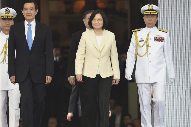 La nouvelle présidente de Taïwan Tsai Ing-wen a appelé vendredi à... (PHOTO ASSOCIATED PRESS)