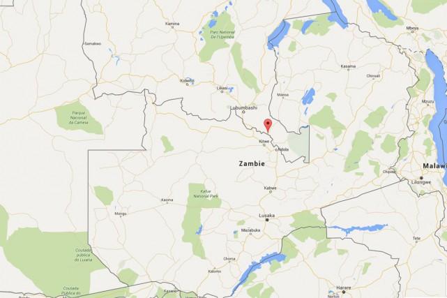 Trente-sept Zambiens sont morts vendredi dans l'incendie provoqué par... (CAPTURE D'ÉCRAN GOOGLE MAPS)