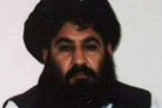 Le mollah Akhtar Mansour sur une photo prise... (PHOTO ARCHIVES AFP)
