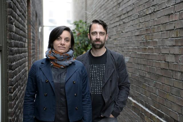 Mylène Bouchard et Simon Philippe Turcot célèbrent le... (Photo Jeannot Lévesque, archives Le Progrès-dimanche)