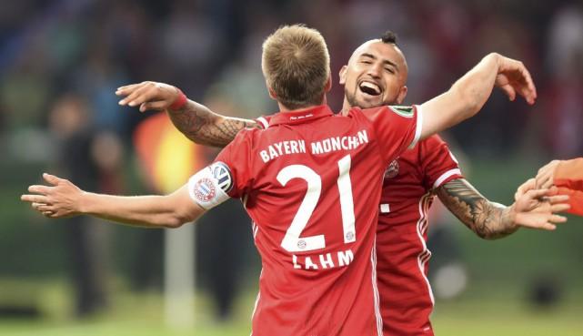 Le Bayern Munich a triomphé pour la 18e fois en Coupe d'Allemagne et offert un... (Photo AFP)