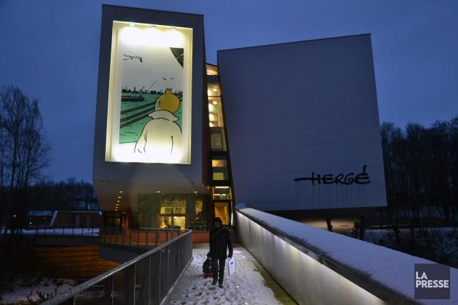 A l'occasion des sept ans du Musée Hergé... (Photo tirée de Facebook)