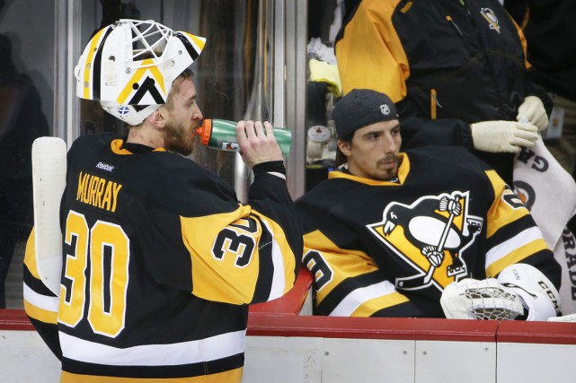 La recrue Matt Murray a frappé un mur... (Photo AP)