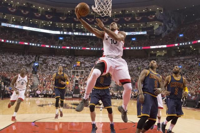 DeMar DeRozan a inscrit 32 points.... (Photo La Presse Canadienne)