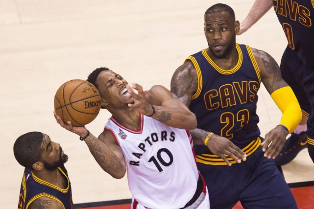 DeMar DeRozan a dirigé l'attaque des Raptors avec... (La Presse Canadienne, Nathan Denette)