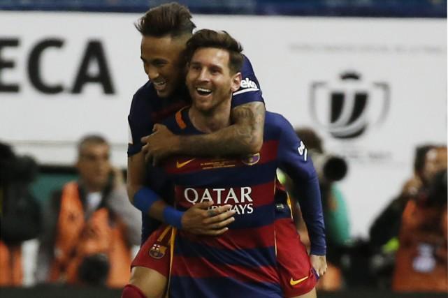 Au bout du suspense, Jordi Alba et Neymar ont offert au FC Barcelone la 28e... (Photo Reuters)