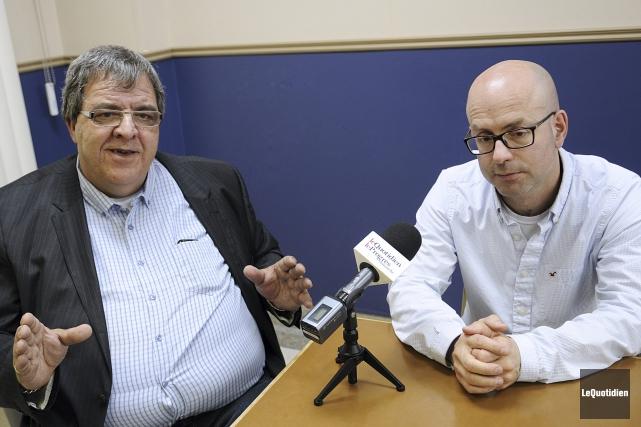 Le directeur de l'école polyvalente Arvida, Yves Larouche,... (Photo Le Quotidien, Mariane L. St-Gelais)