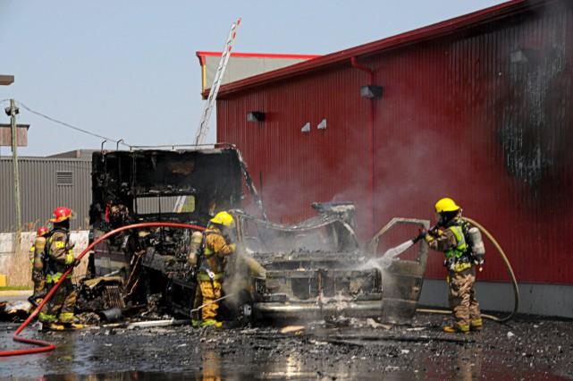 L'explosion d'un motorisé a semé l'émoi, lundi, à... (Collaboration spéciale, Éric Beaupré)