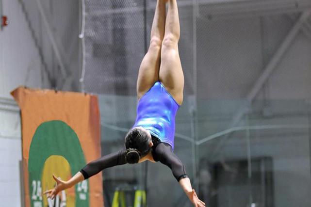 Gabrielle Thibault a notamment terminé première au saut.... (Fournie par Les Hirondelles)