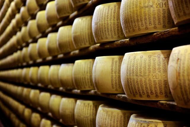 Le Parmigiano Reggiano est nommé dans les textes... (ARCHIVES BLOOMBERG)