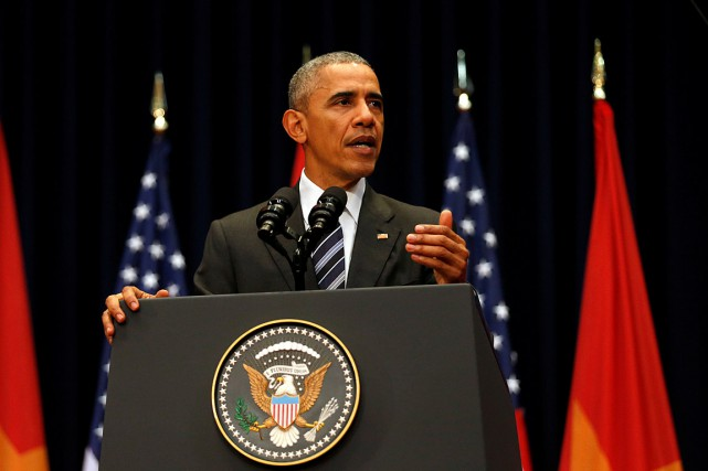 «Je viens ici, conscient du passé, de notre... (Photo Carlos Barria, Reuters)