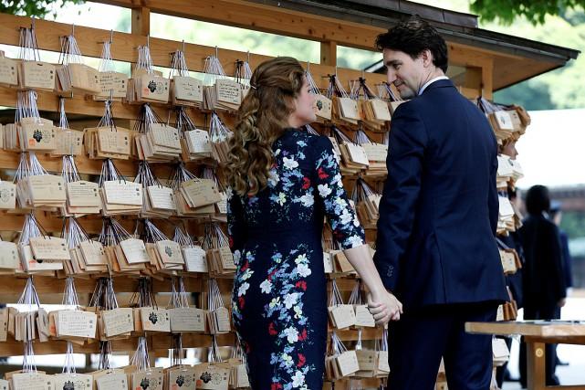 Le premier ministre du Canada Justin Trudeau et... (Photo Issei Kato, Reuters)