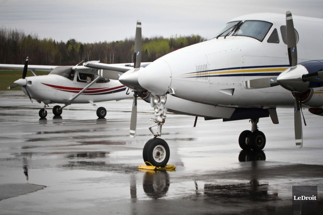 L'aéroport de Gatineau a terminé l'année 2015 avec... (Etienne Ranger, Archives LeDroit)