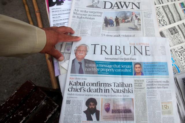 Le mollah Akhtar Mansour n'aura dirigé les talibans... (PHOTO FAYAZ AZIZ, REUTERS)