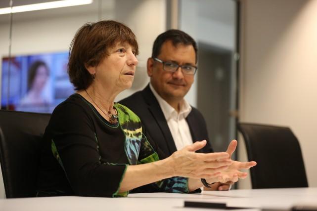Les co-porte-parole de Québec solidaire, Françoise David et... (PHOTO MARTIN CHAMBERLAND, LA PRESSE)